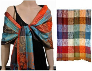 Pashmina Scarves from Wigs 'n More